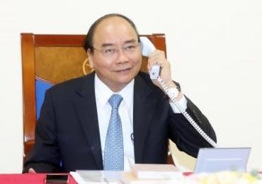 Vietnamese, Danish PMs phone call